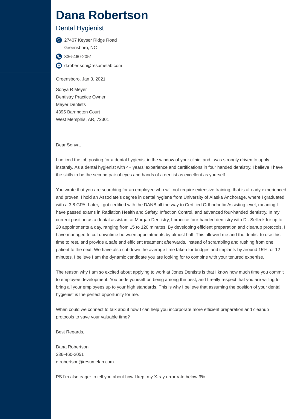 Cover Letter Template Concept