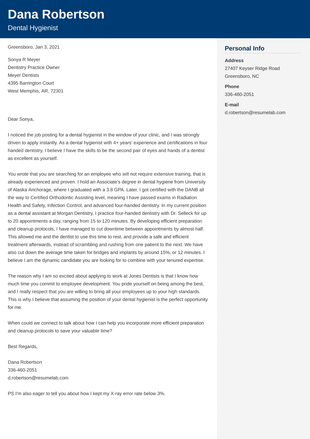 Cover Letter Template Cubic