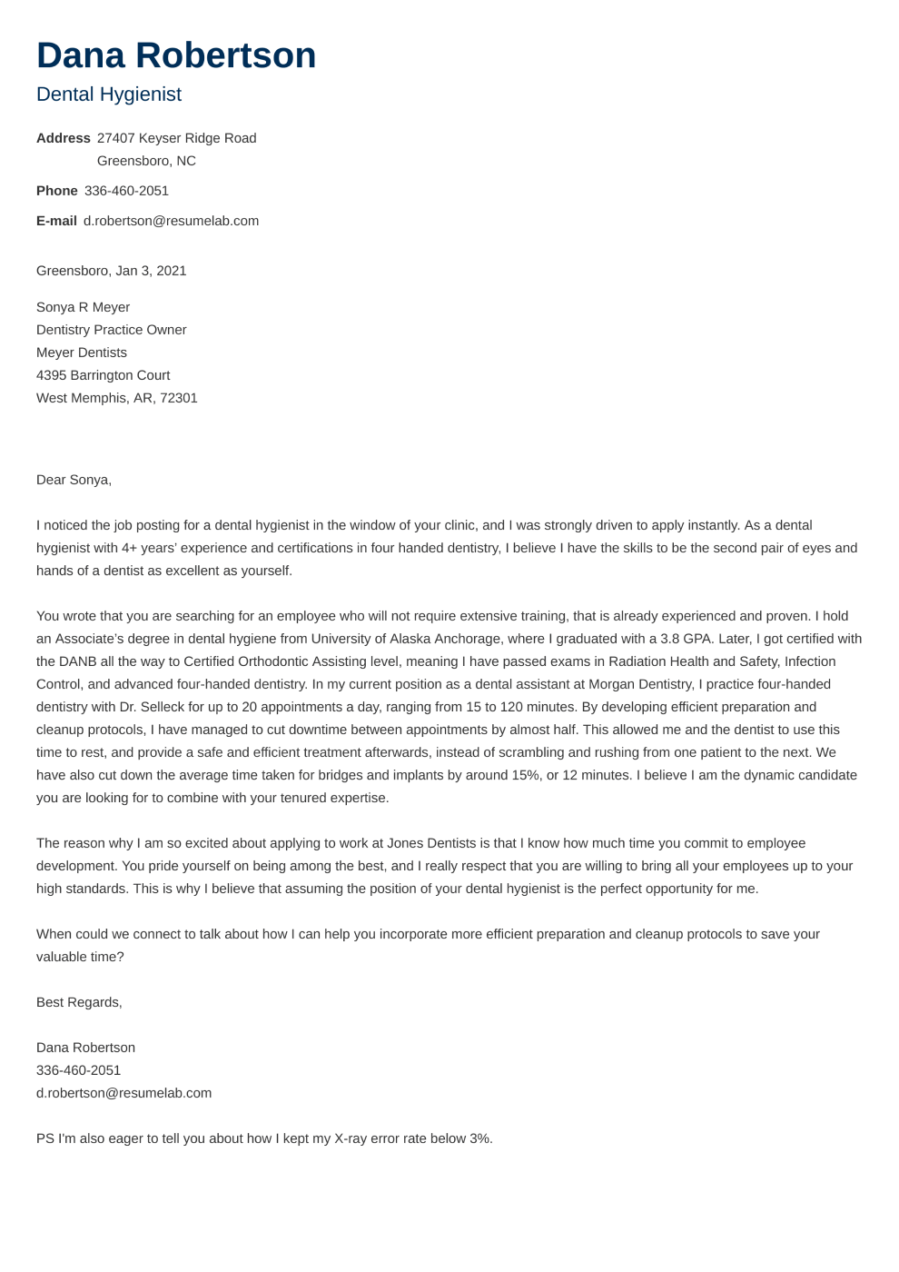 Cover Letter Template Newcast