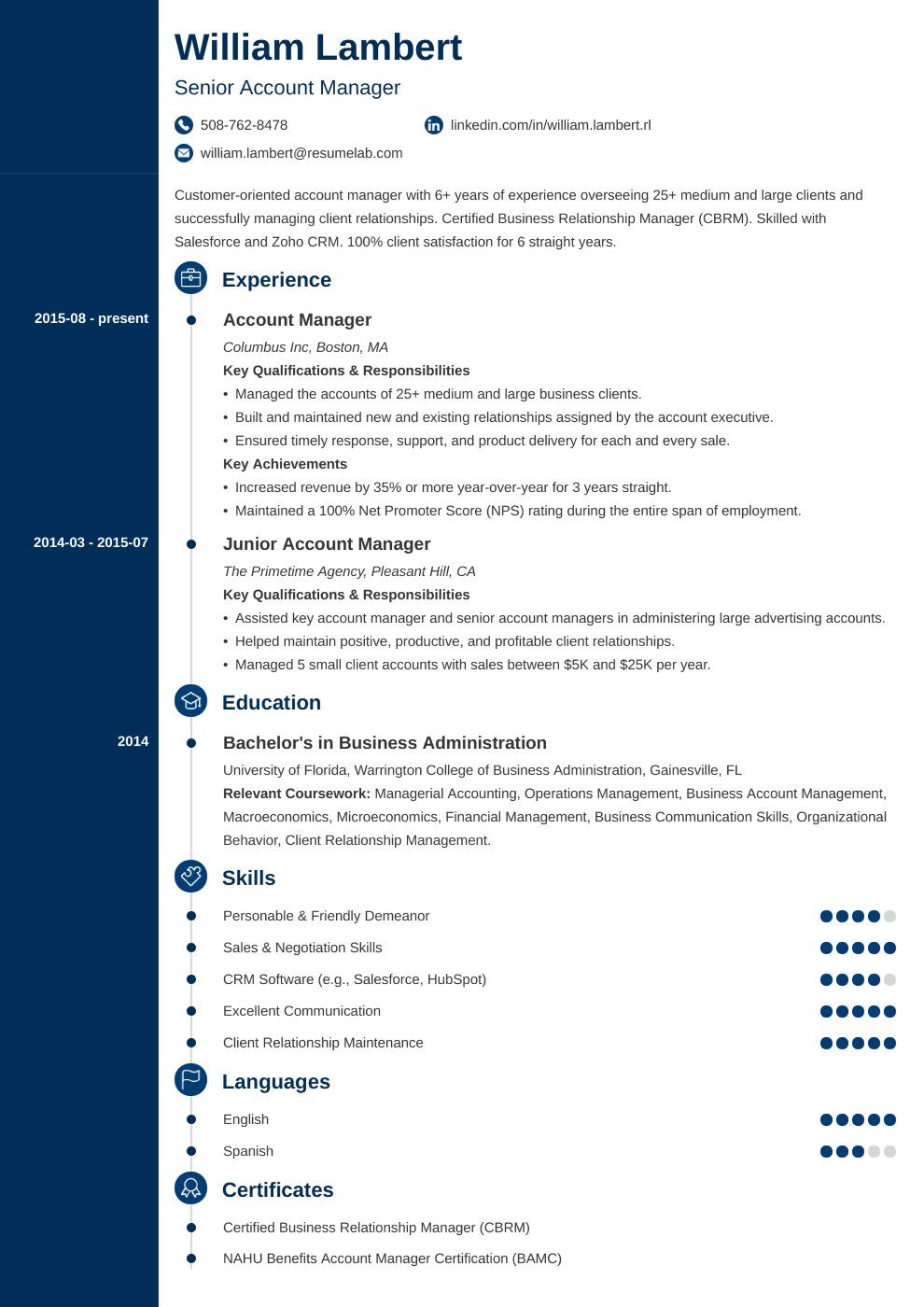 Resume Template Concept
