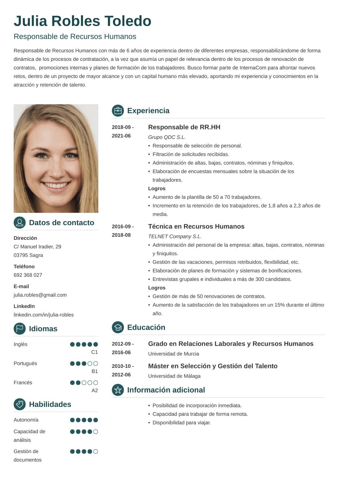 CV online crisp