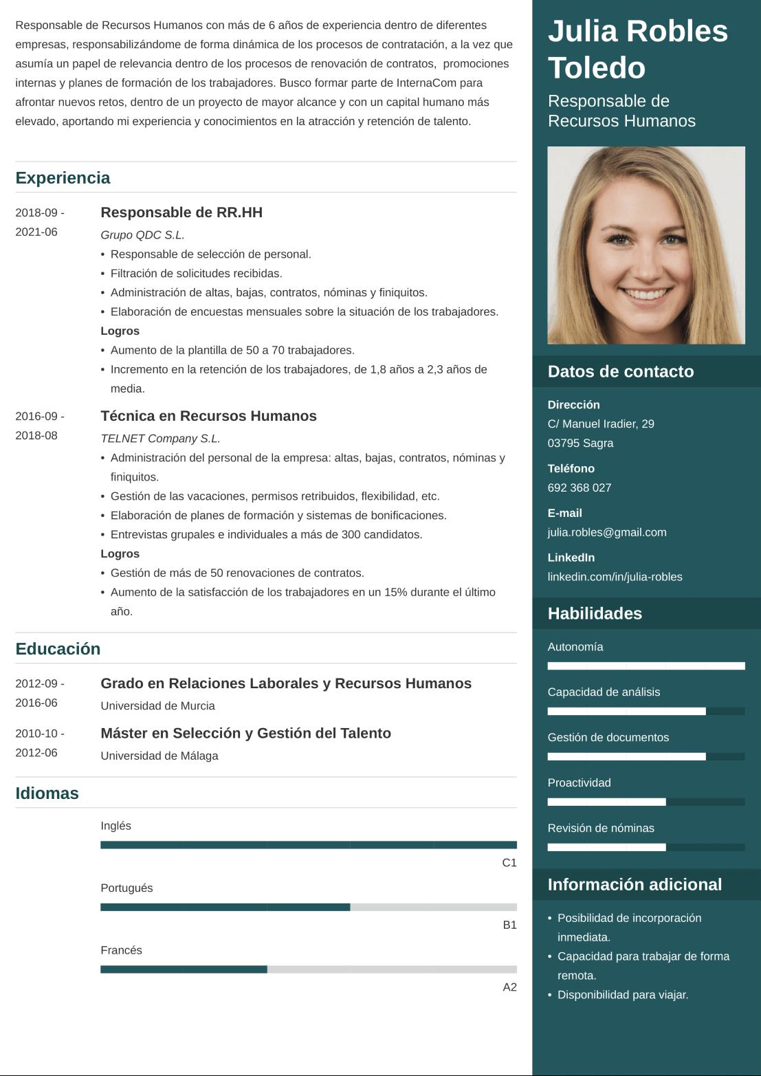 CV online enfold