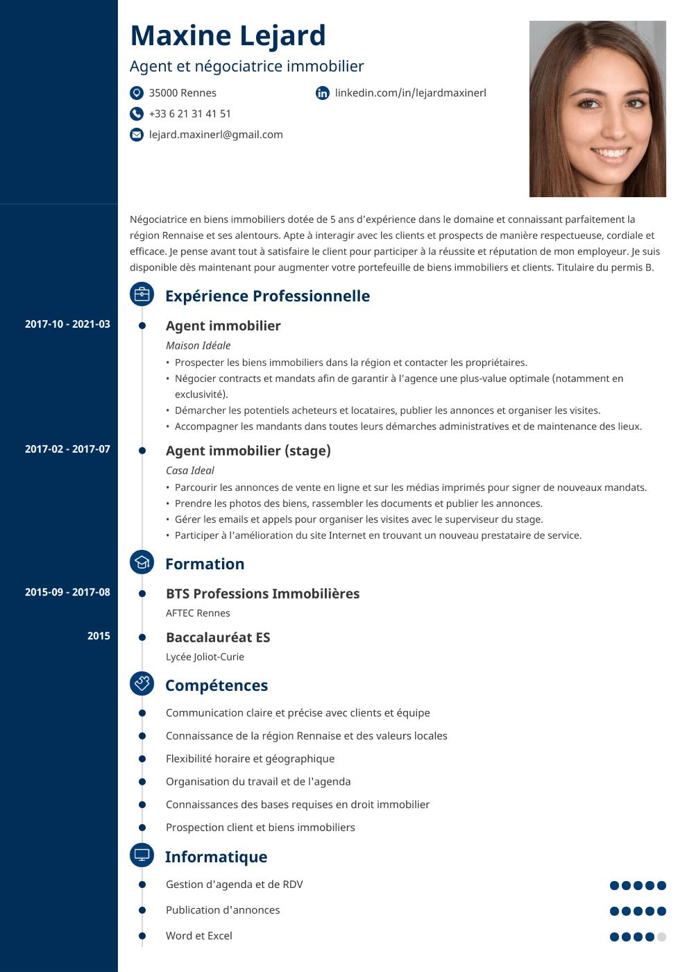Exemple de CV Concept