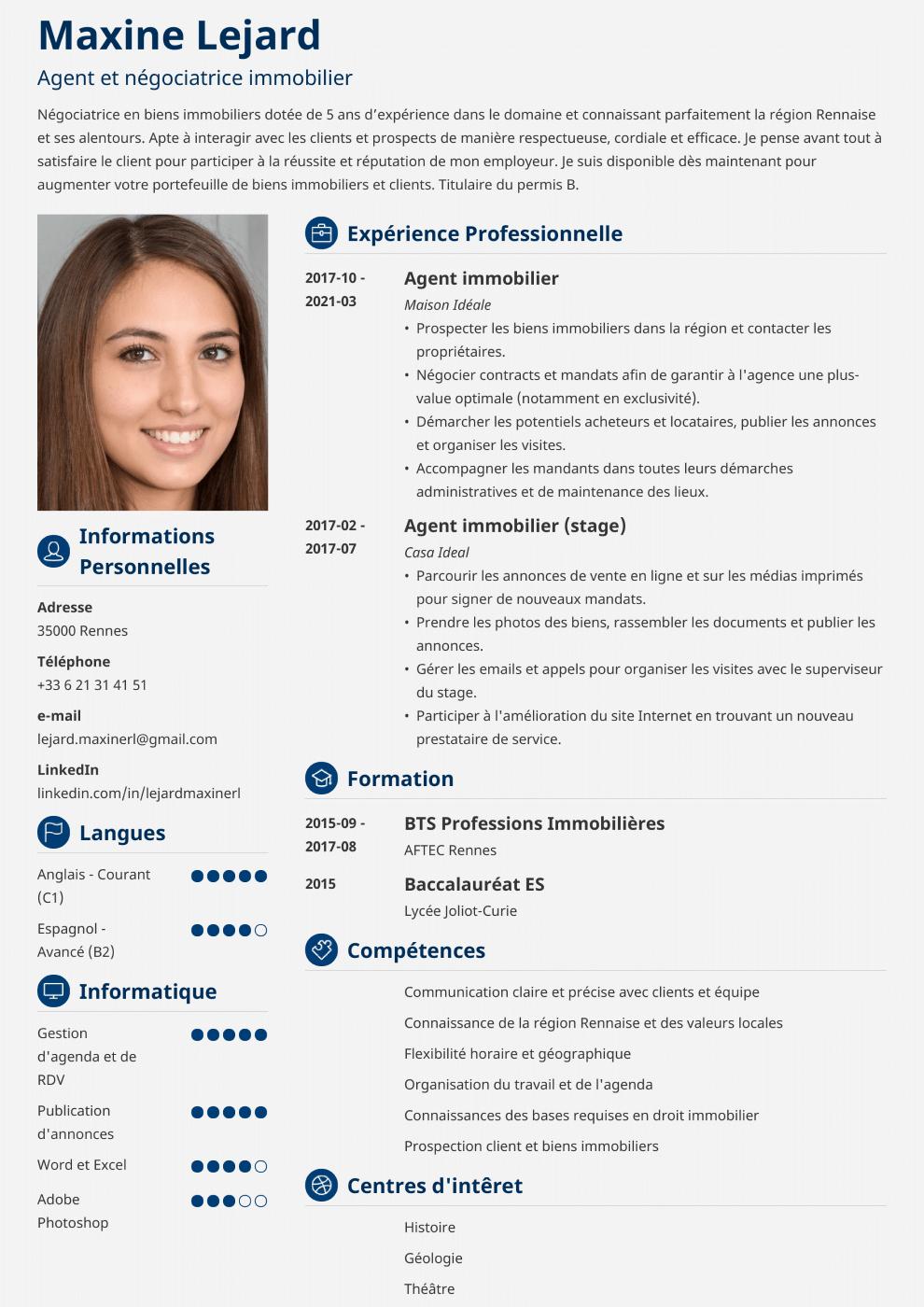 Exemple de CV Crisp