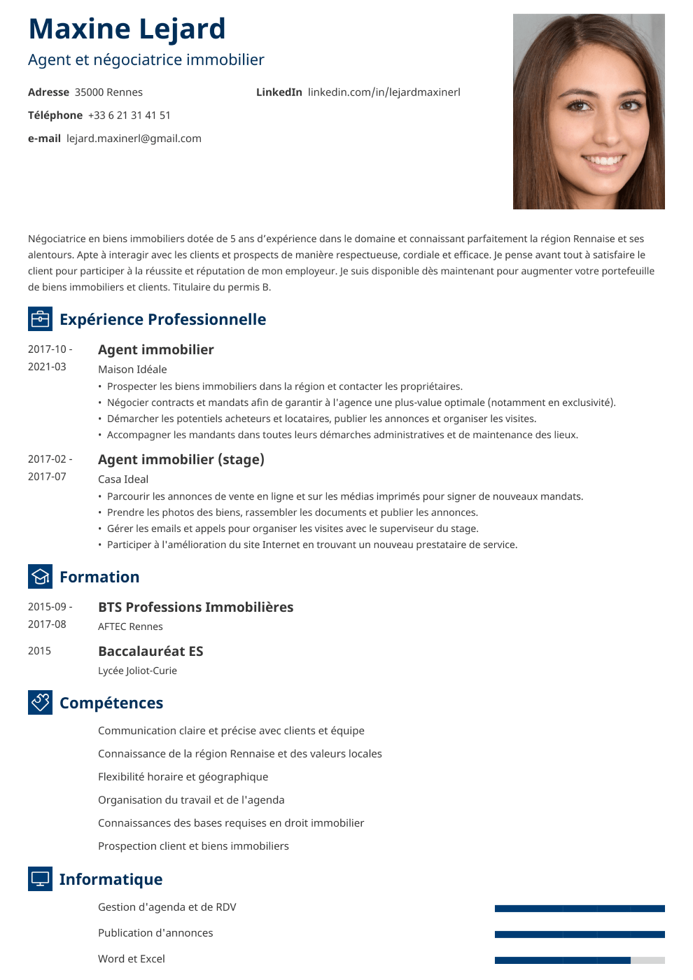 Exemple de CV Newcast