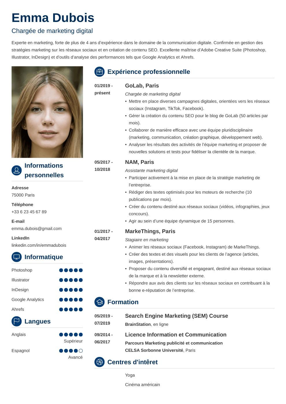 Modèle CV Crisp
