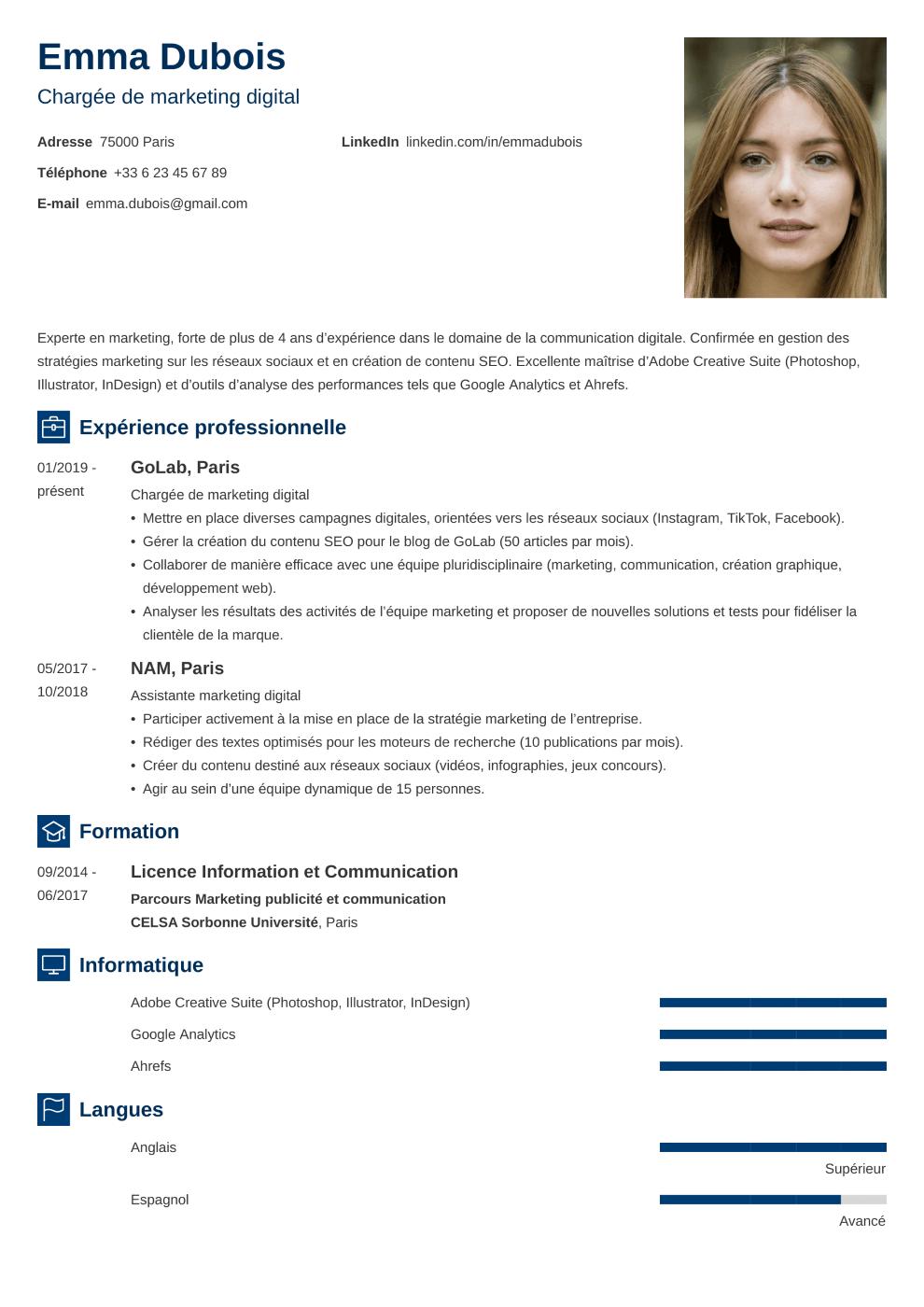 Modèle CV Newcast