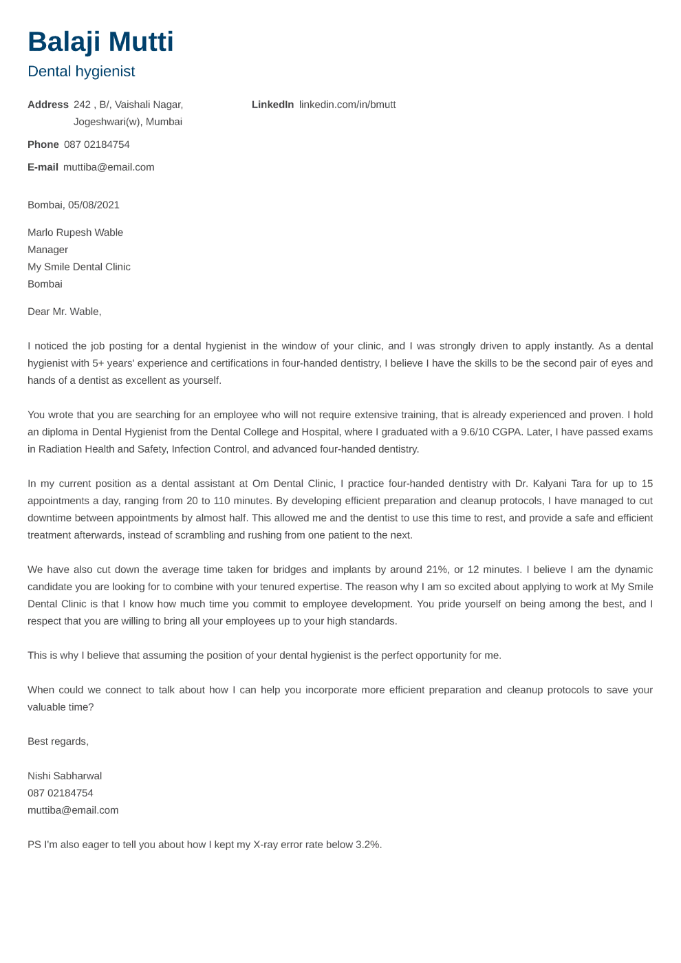 Newcast Cover Letter Format