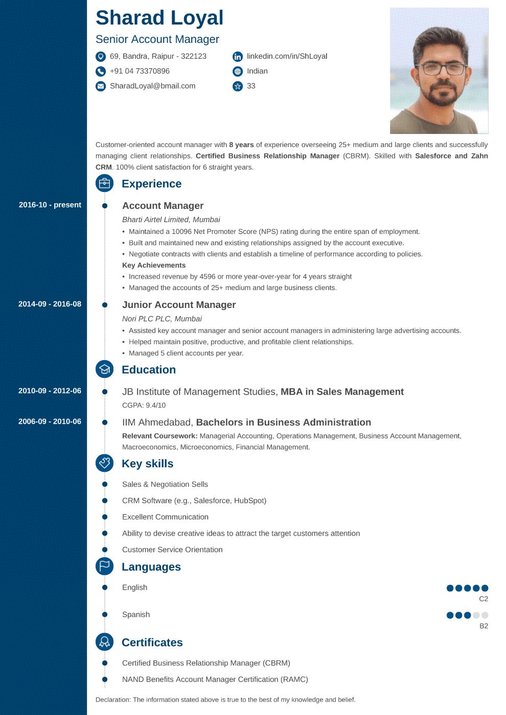 Concept Indian CV Template