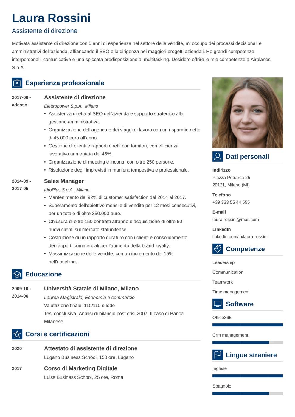 Modello CV Vibes