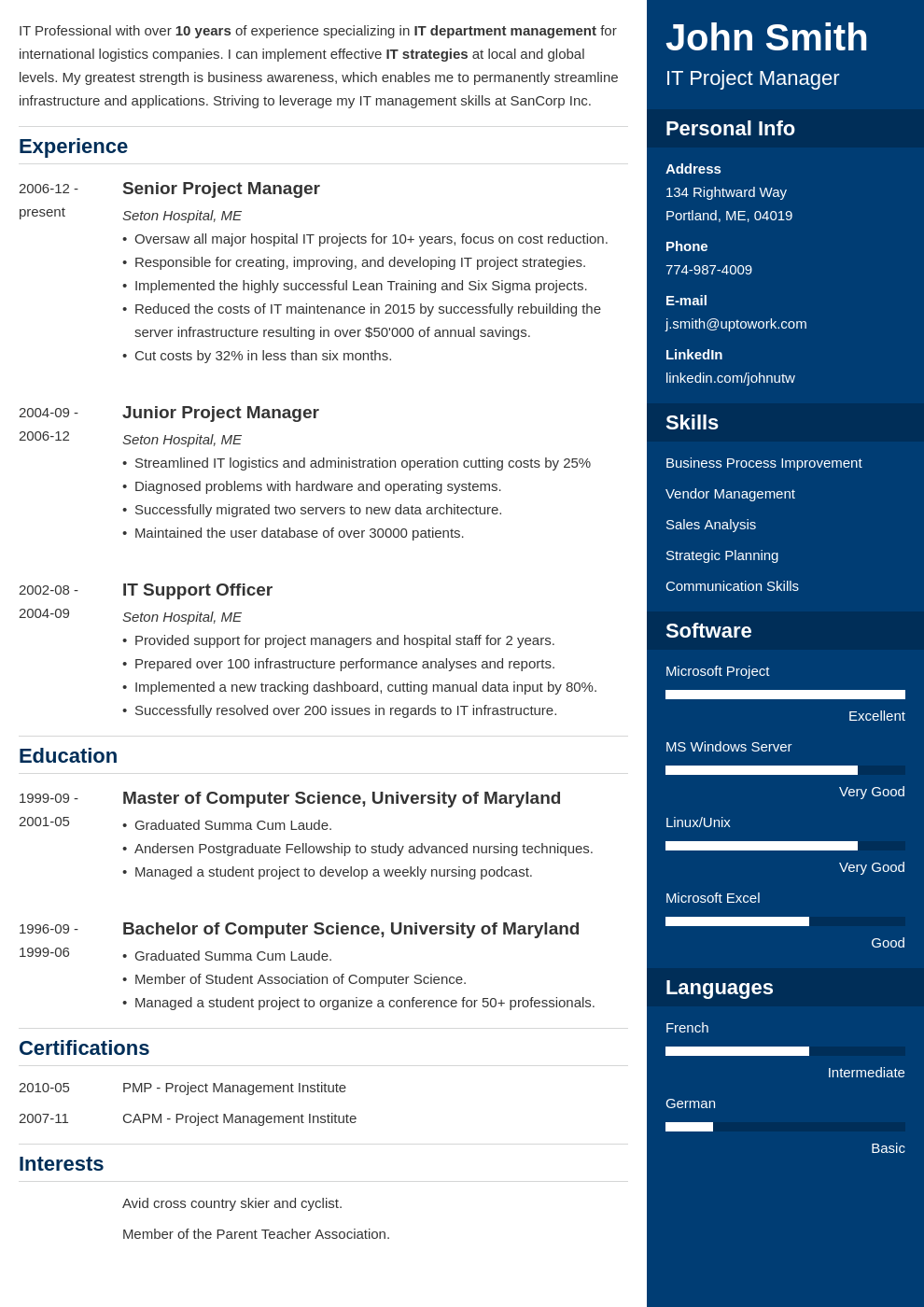 Resume Template Enfold