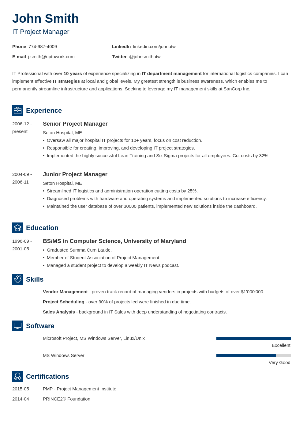 Resume Template Newcast