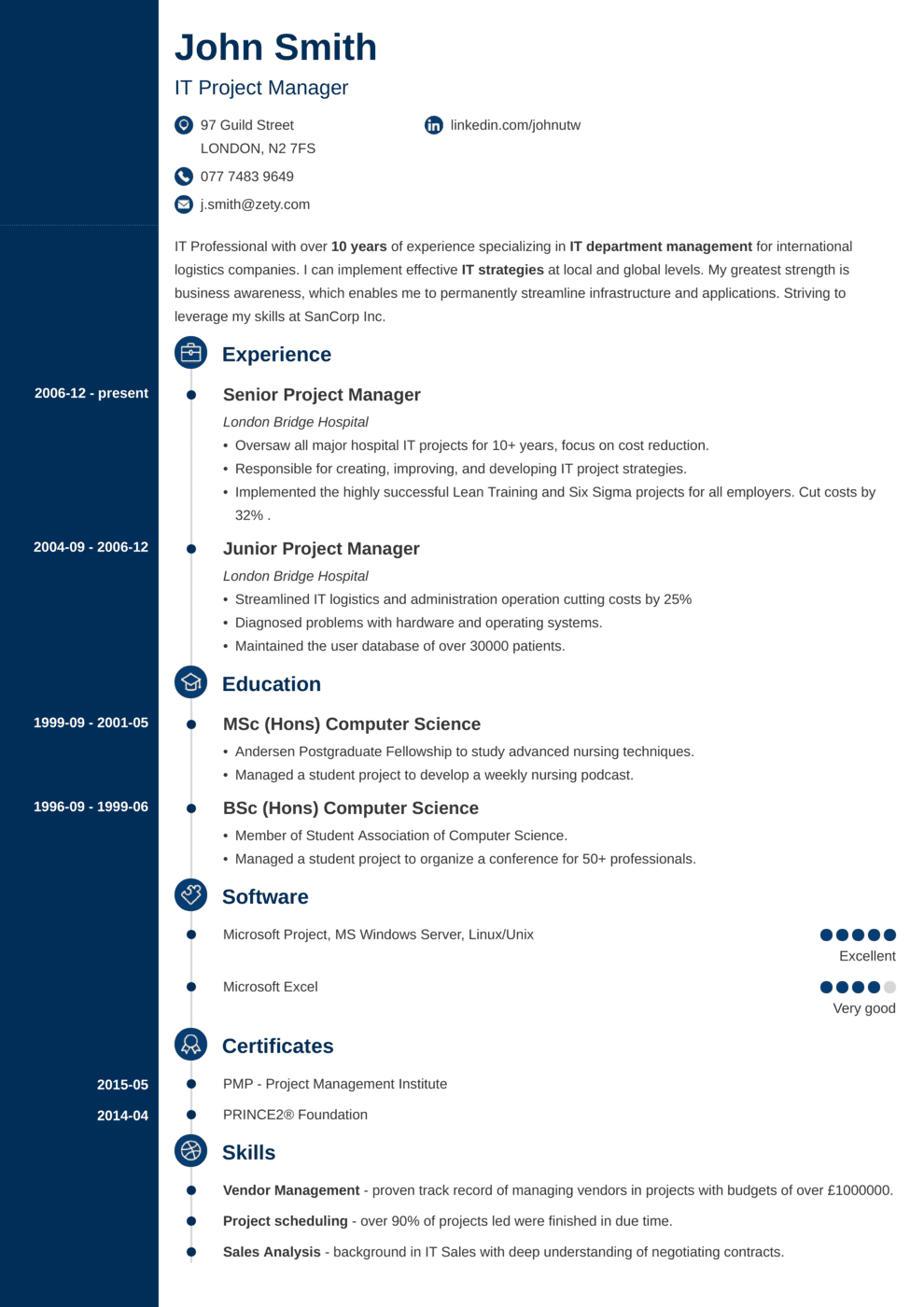 CV Template Concept