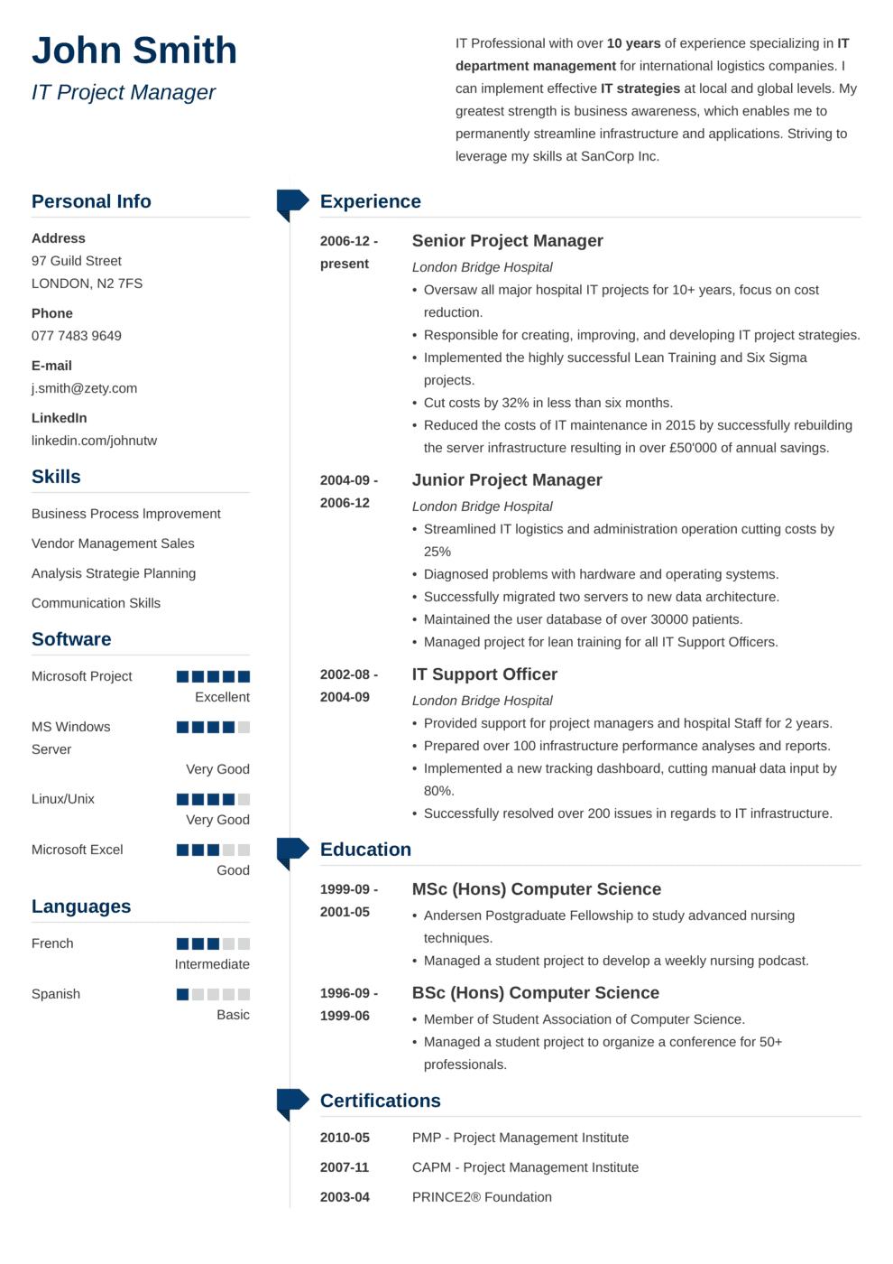 CV Template Muse