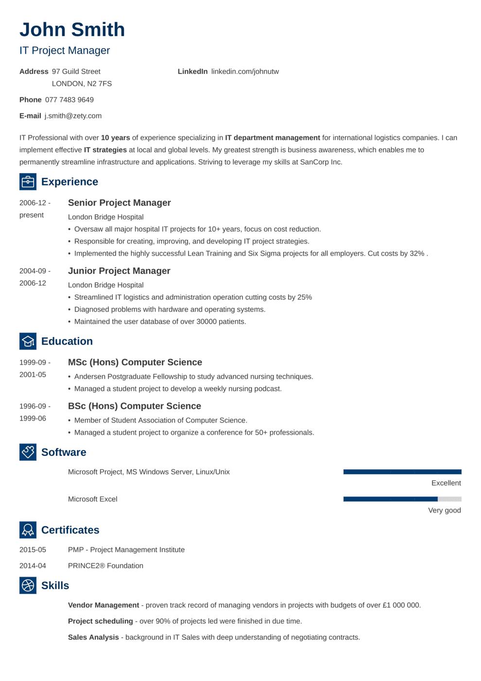 CV Template Newcast