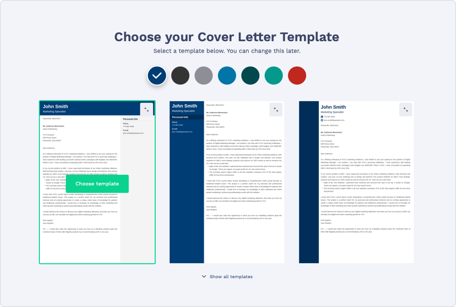 Cover Letter Builder Personalization