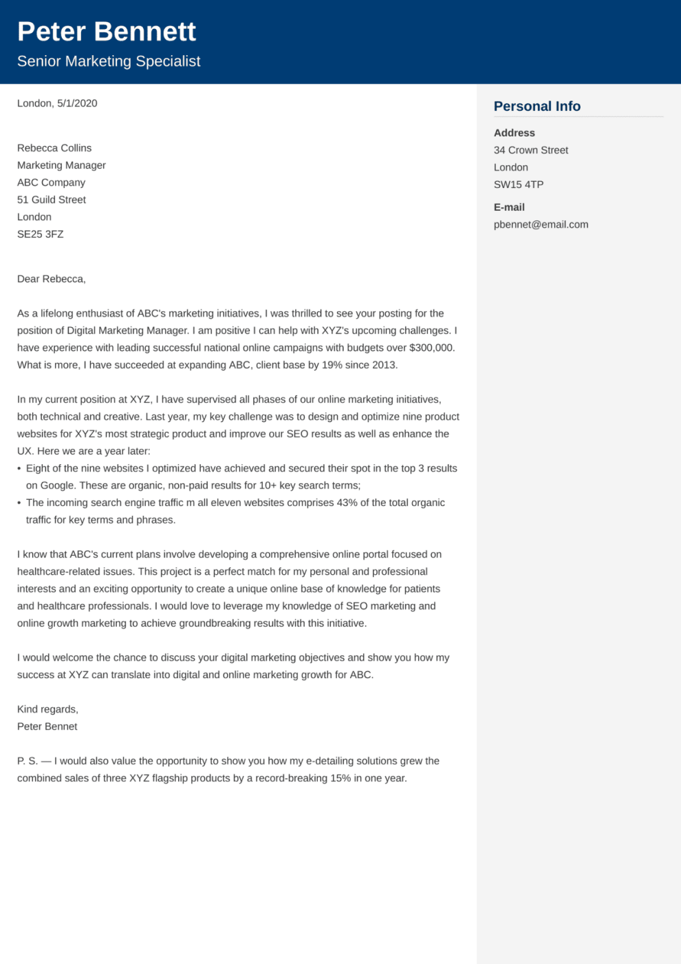 Cover Letter Examples For Any Job Free