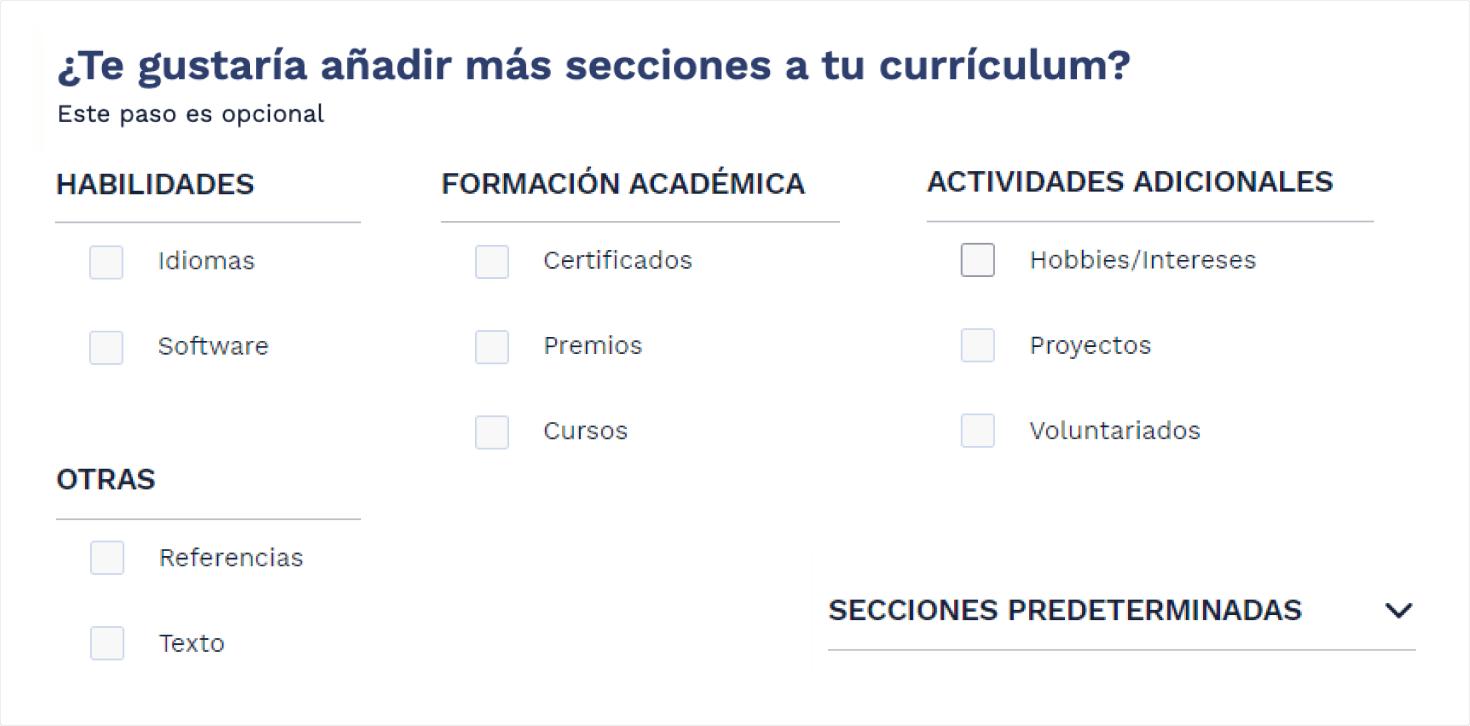 Informacion adicional curriculum