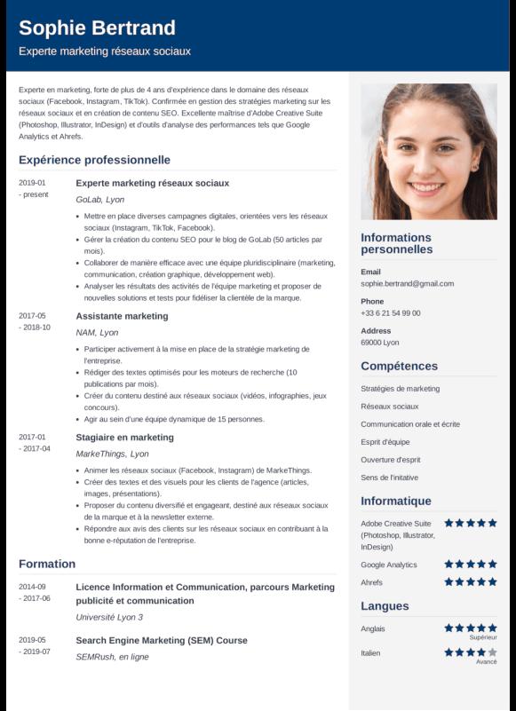 Exemple de CV parfait