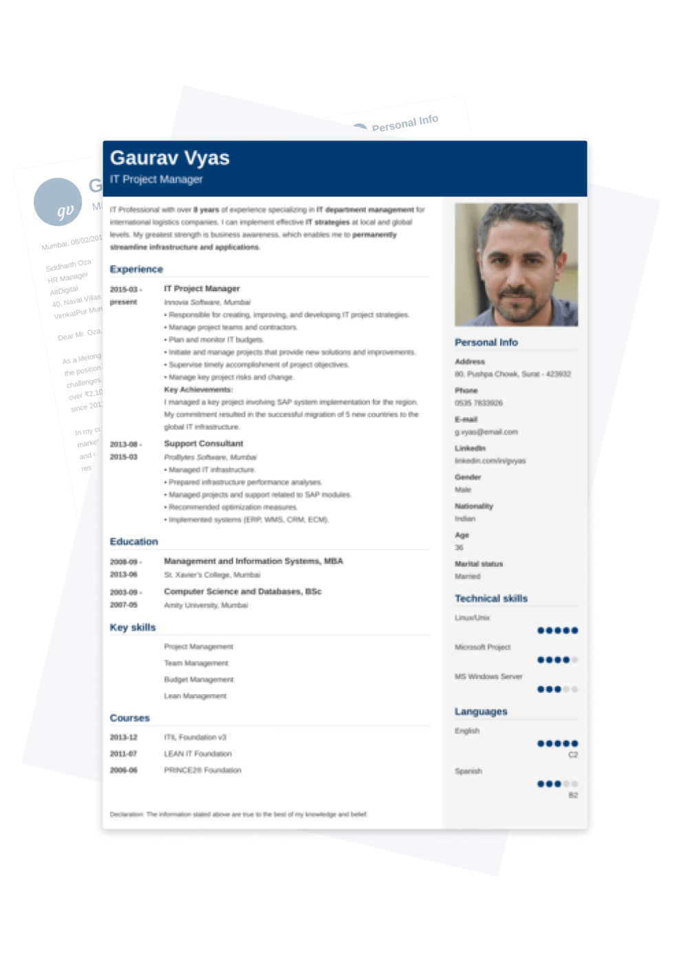 Indian Resumes built with resumelab's resume builder — India