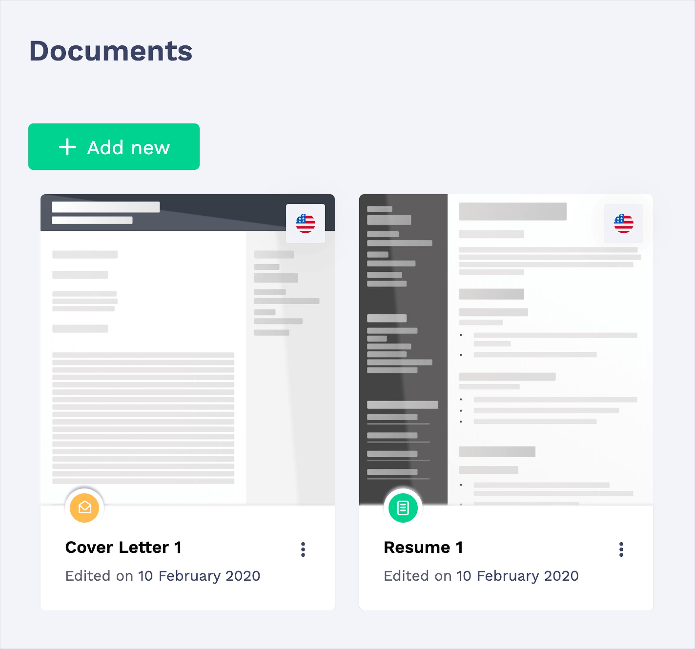 CV Builder Online Document Storage