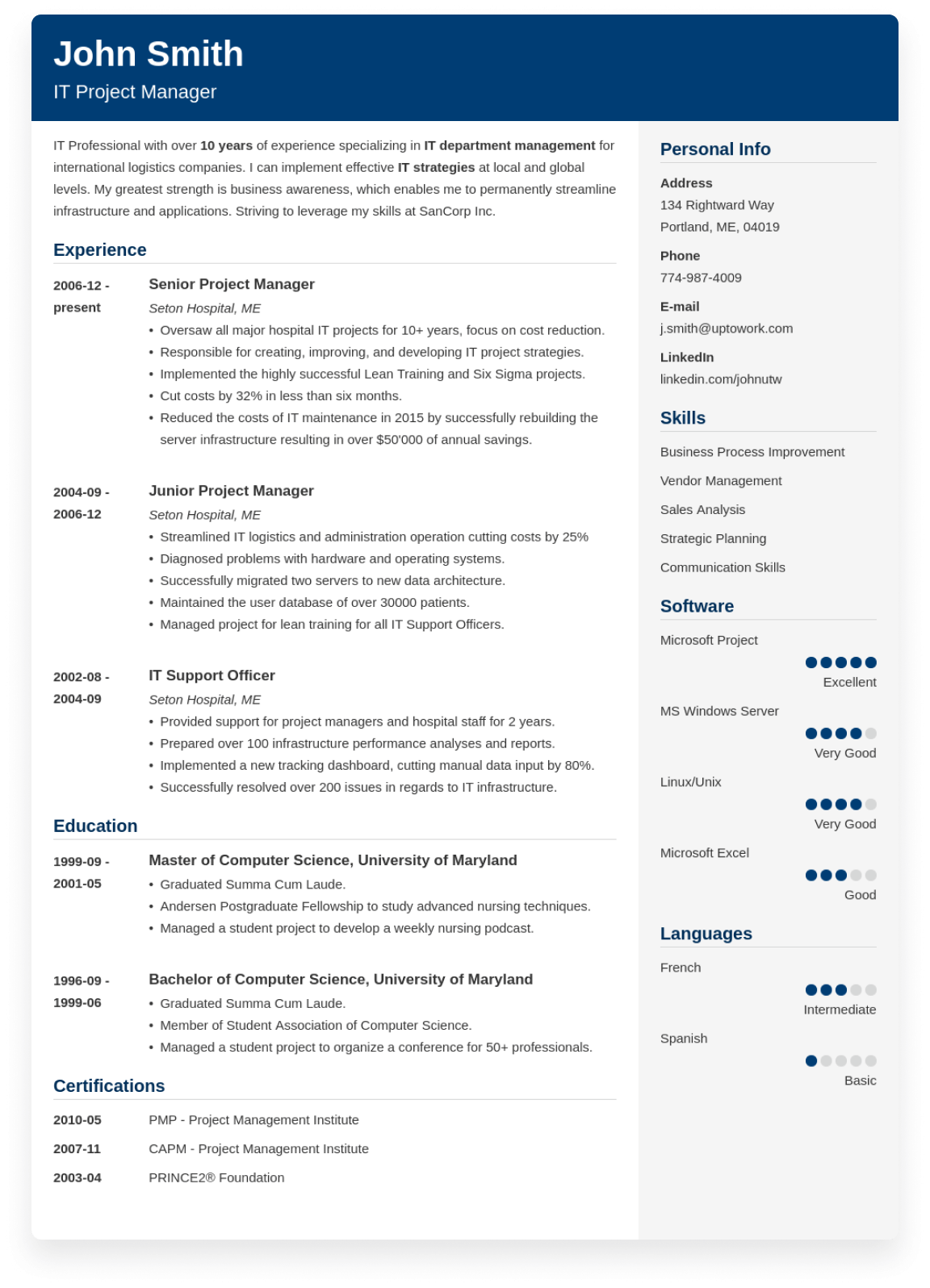 50+ Free CV Examples: a Sample Curriculum Vitae for Every Job