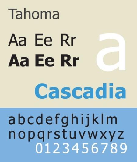 tipo de letra tahoma