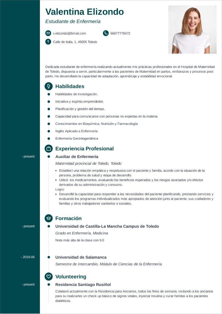 plantilla curriculum estudiante concept