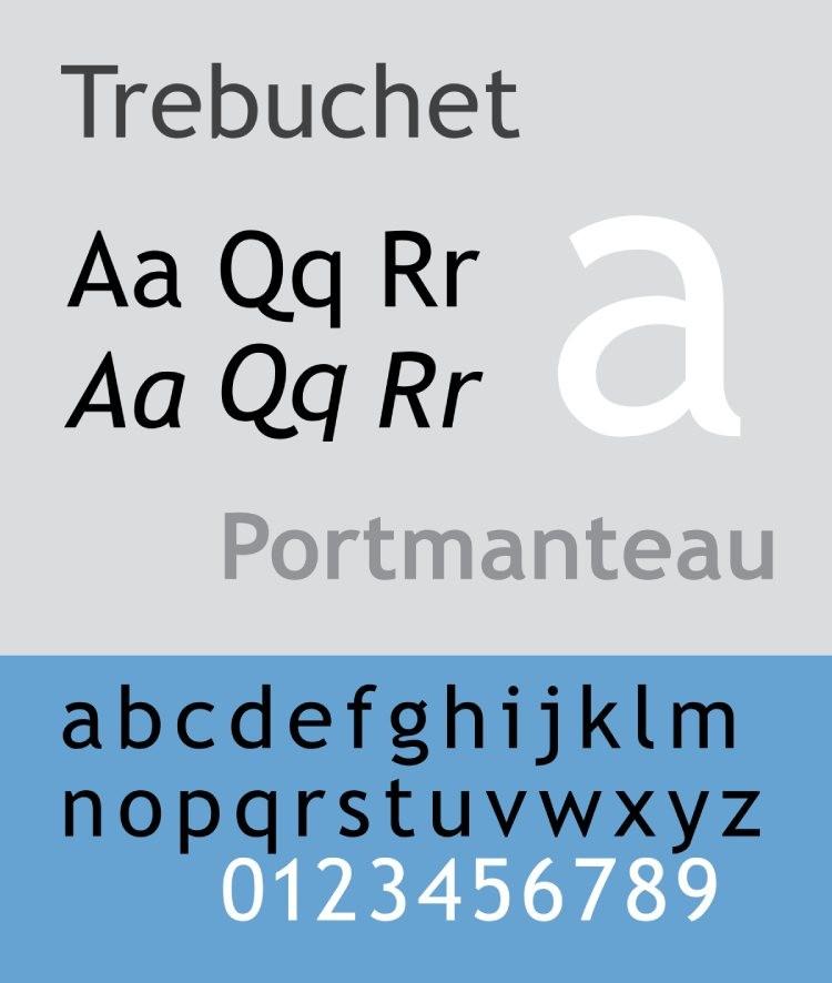 tipo de letra trebuchet ms