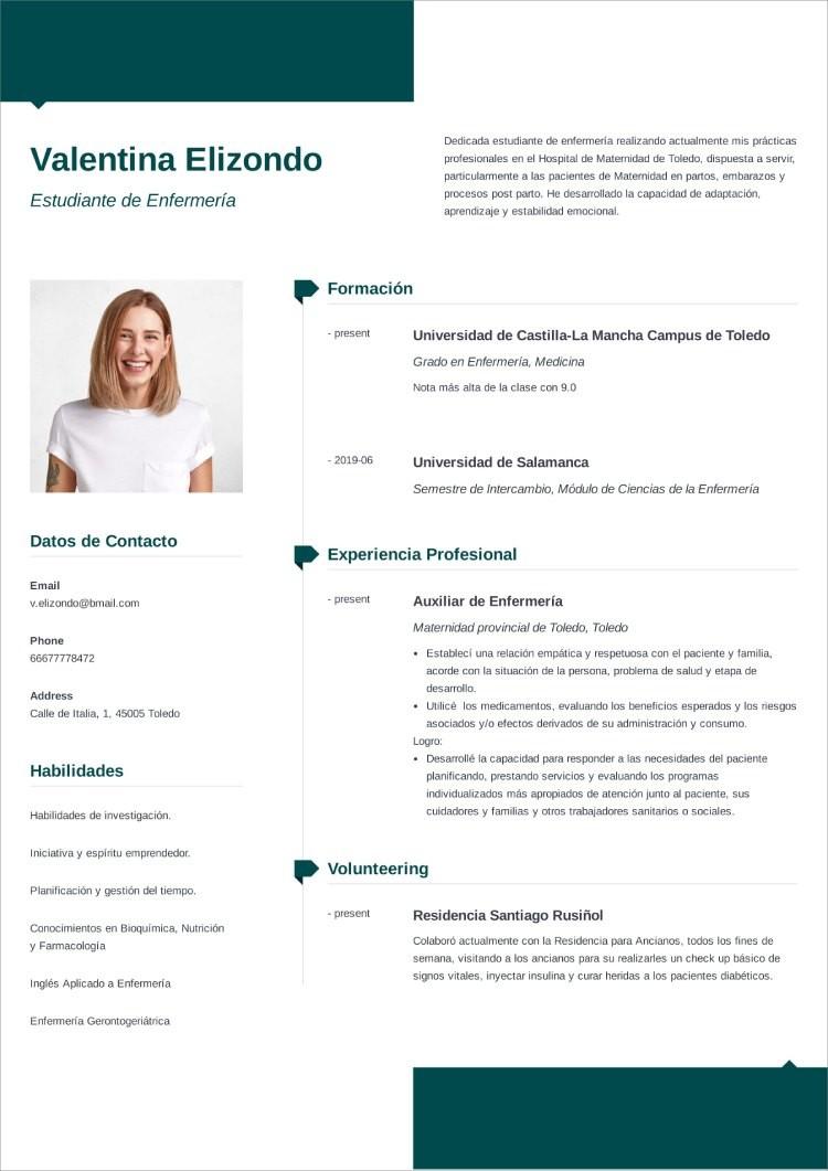 plantilla curriculum estudiante modern