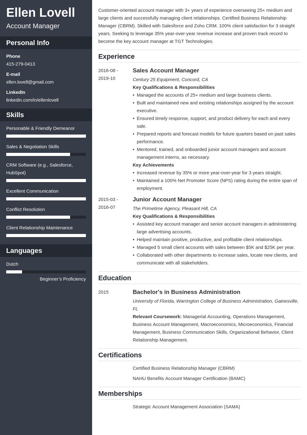 account manager template cascade uk