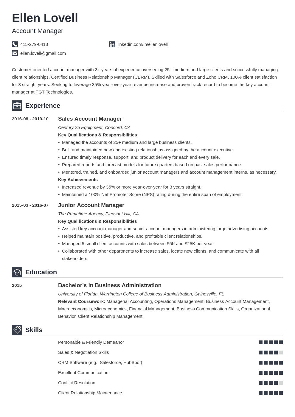account manager template iconic uk