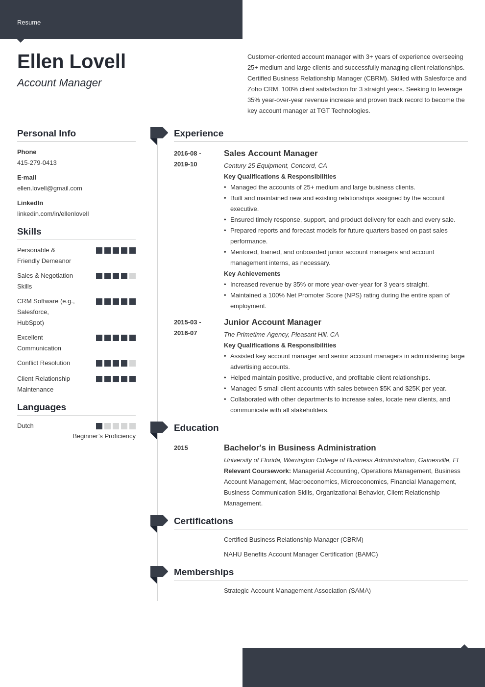 account manager template modern uk