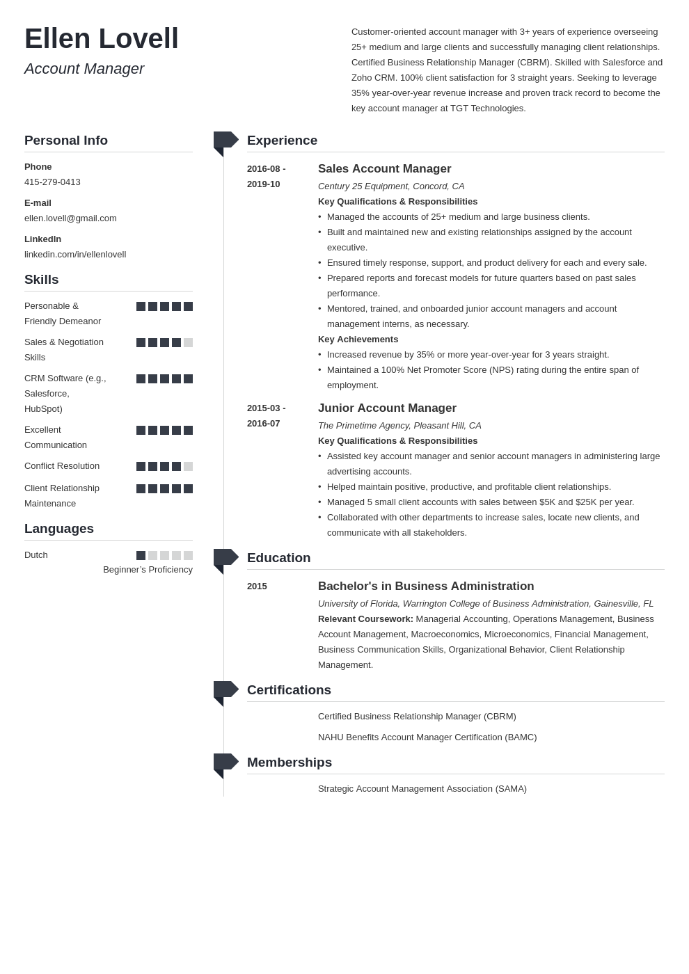 account manager template muse uk