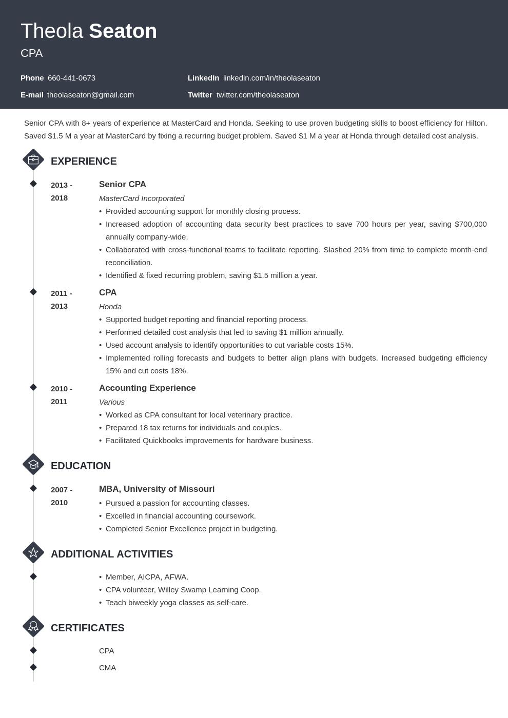 accounting template diamond uk