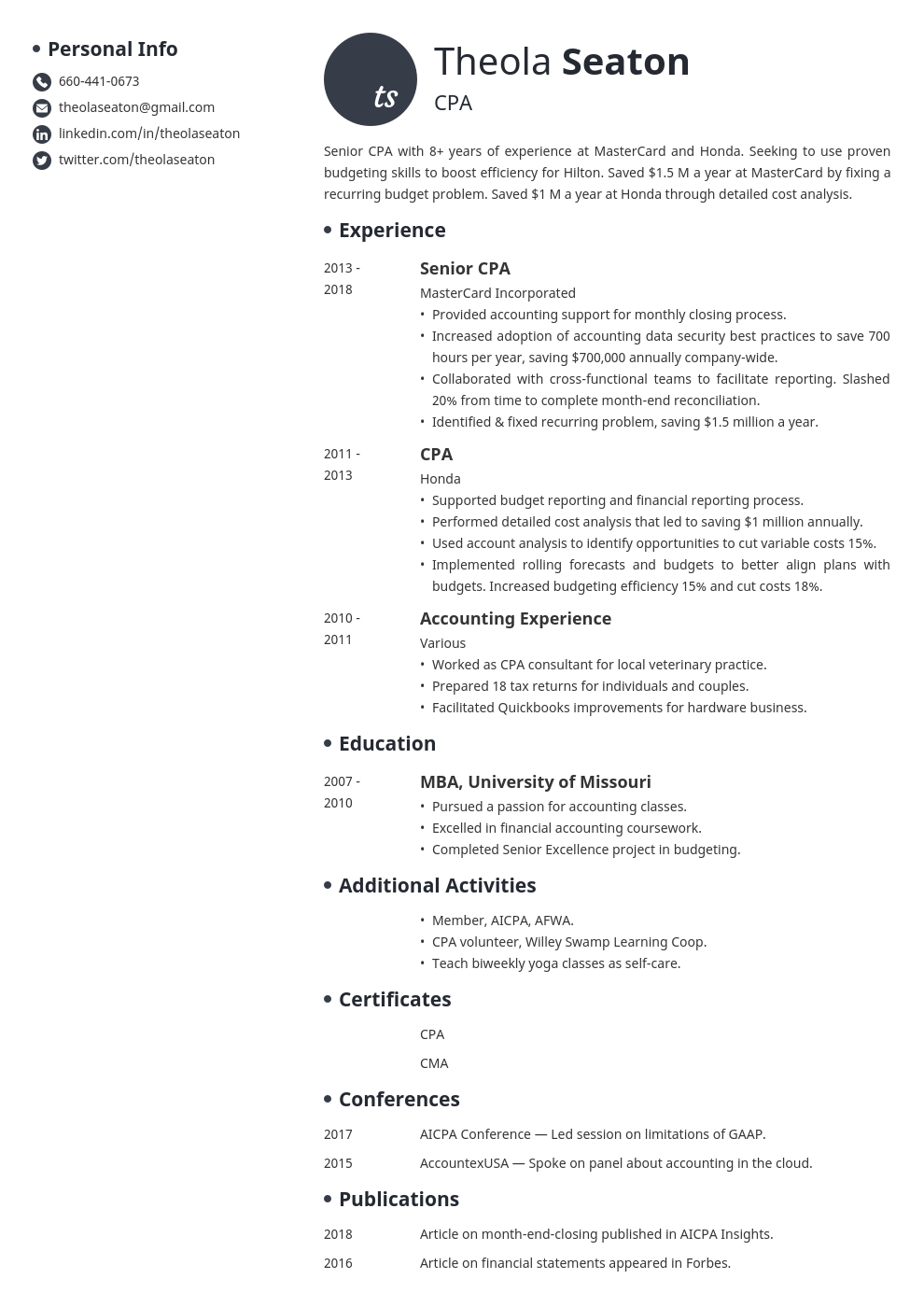 accounting template initials uk