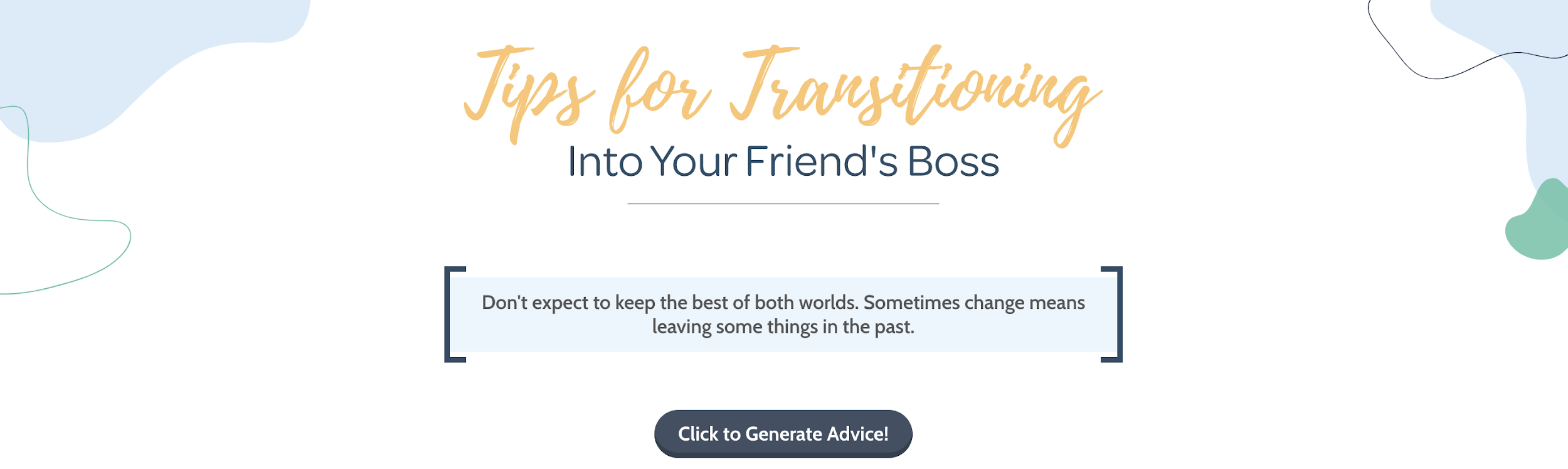 from bff to your boss