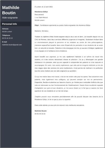 Presentation D Une Lettre De Motivation Plan Structure Format