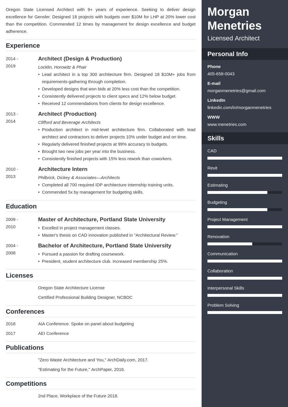 Architecture Resume Template from cdn-images.resumelab.com