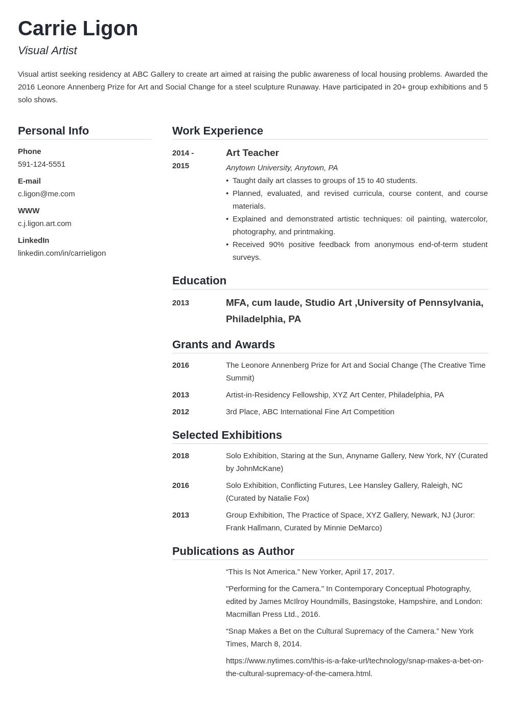 artist template simple uk