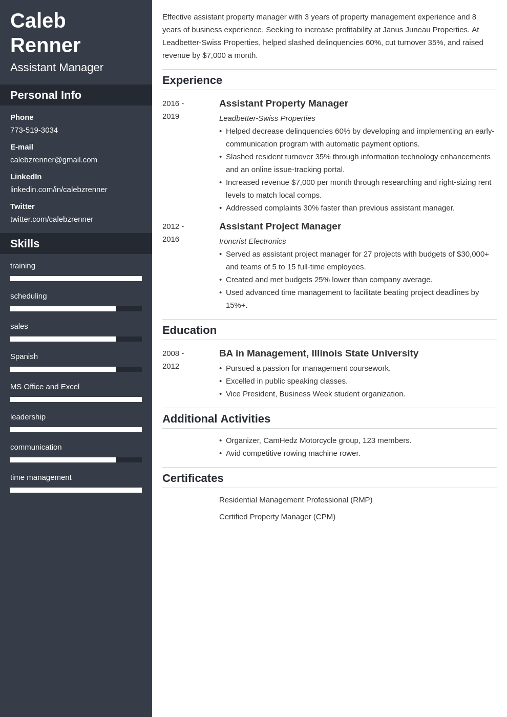 assistant manager template cascade uk