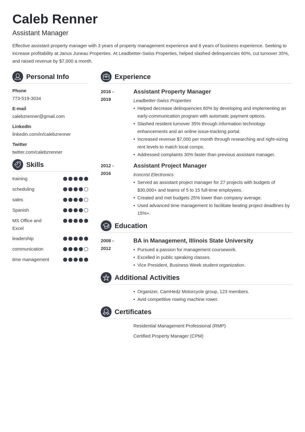 assistant manager template crisp uk