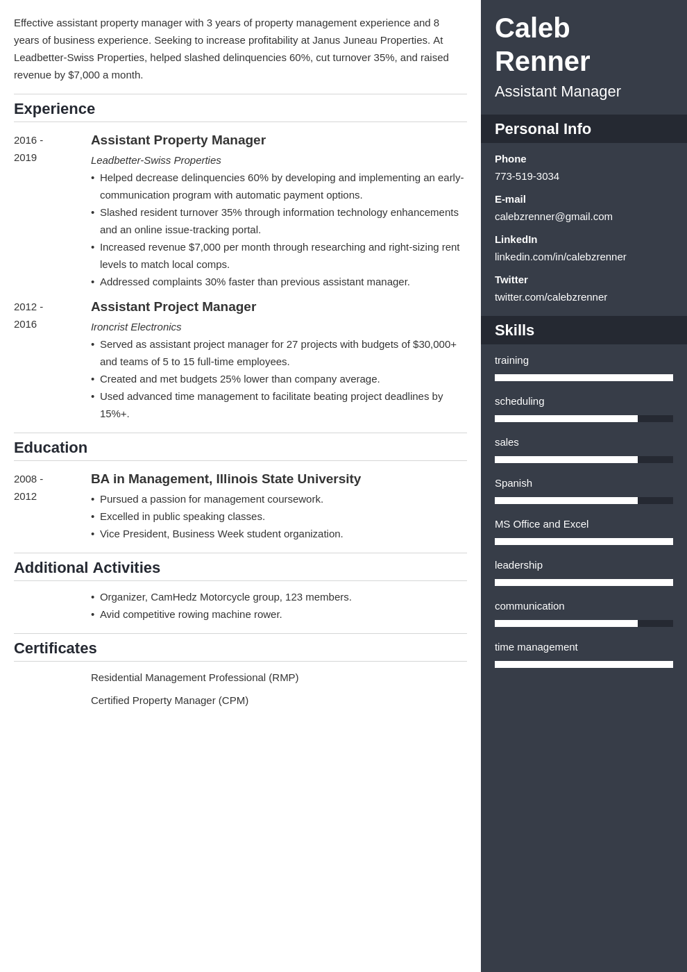 assistant manager template enfold uk