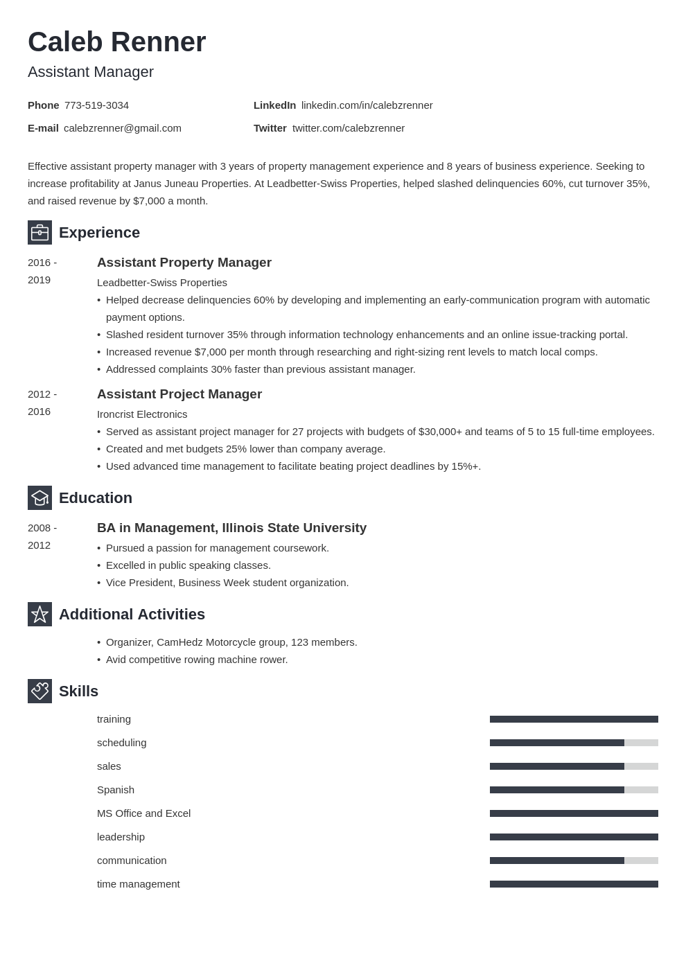 assistant manager template newcast uk