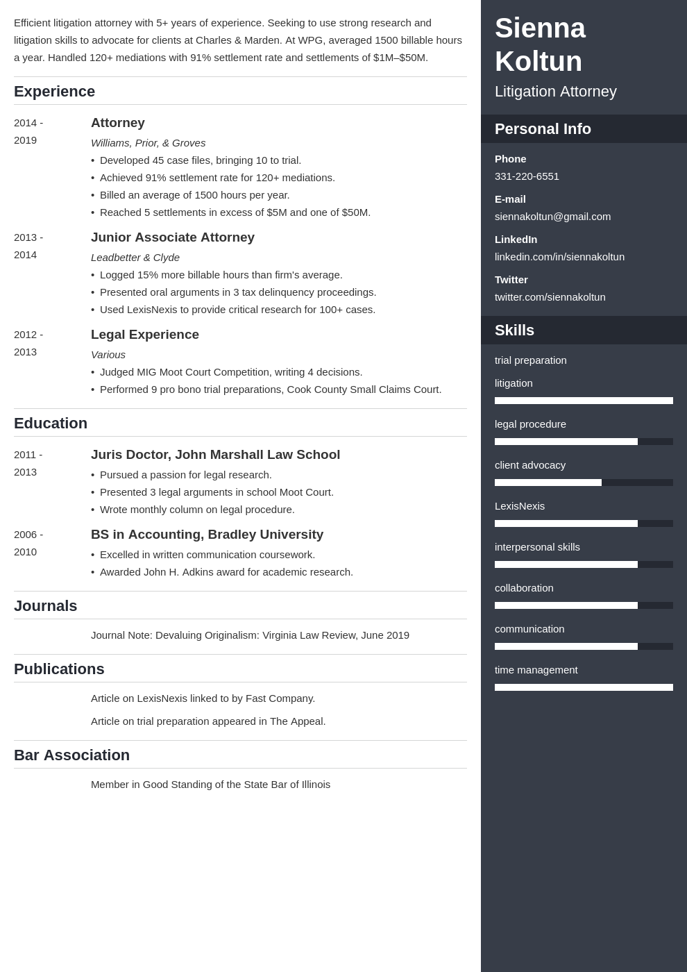 attorney template enfold uk