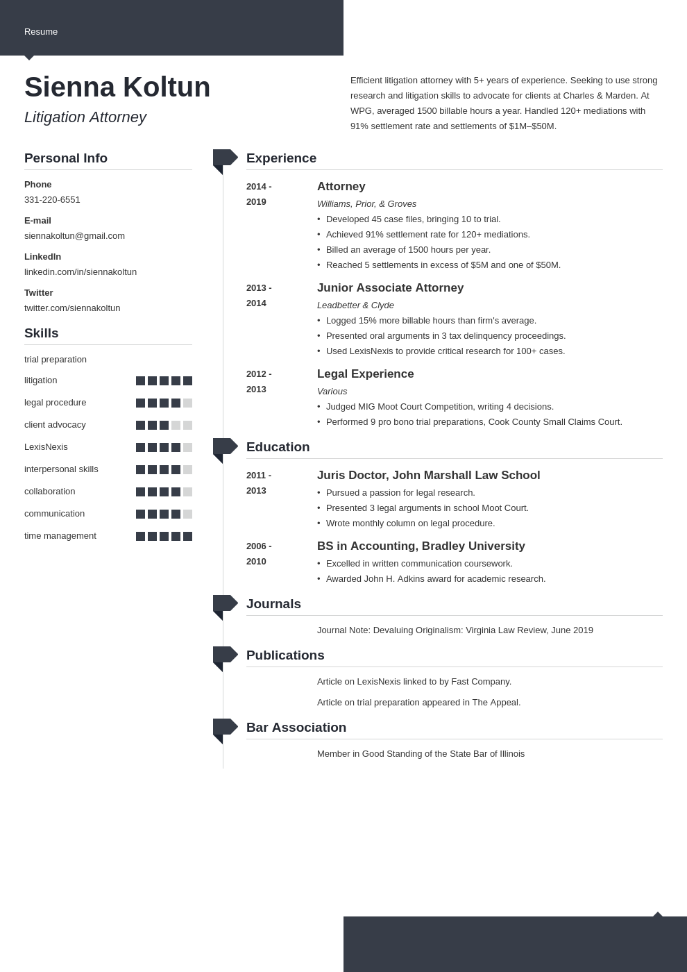 attorney template modern