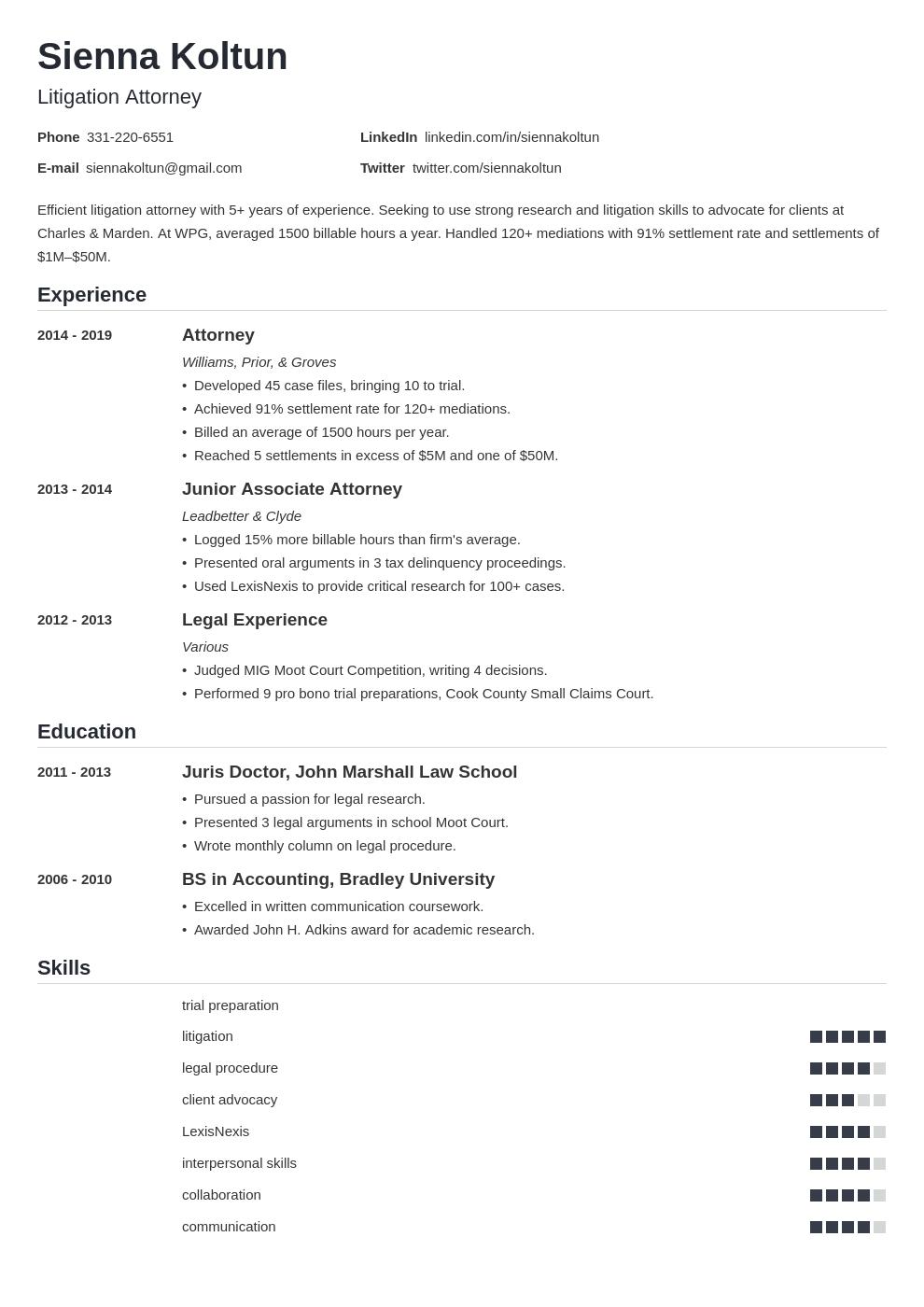 attorney template nanica uk