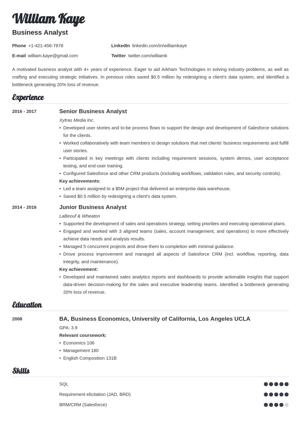 business analyst template valera uk