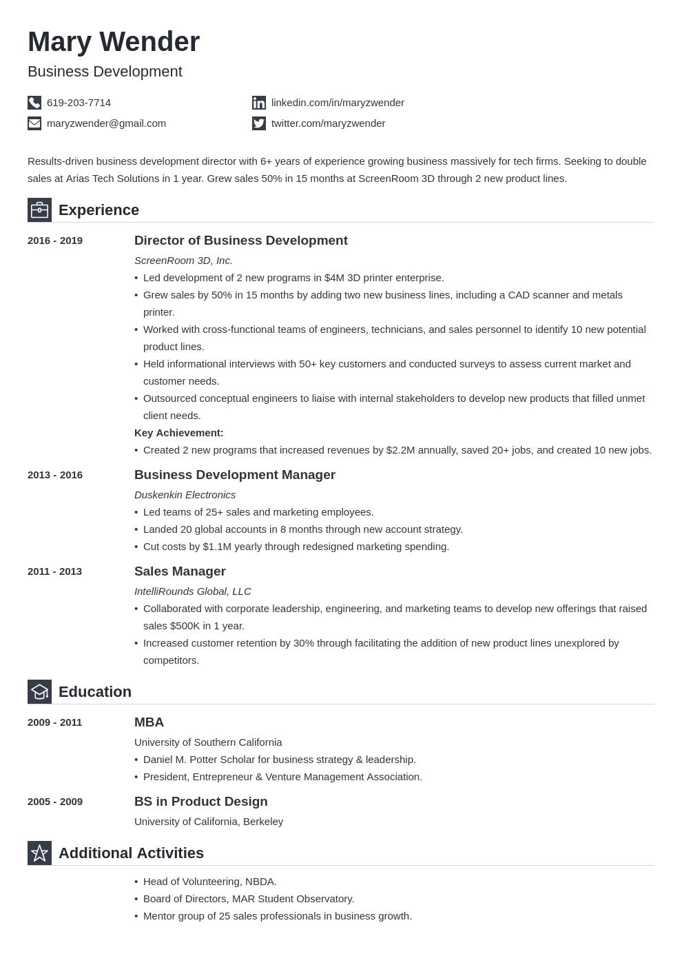 business development template iconic uk