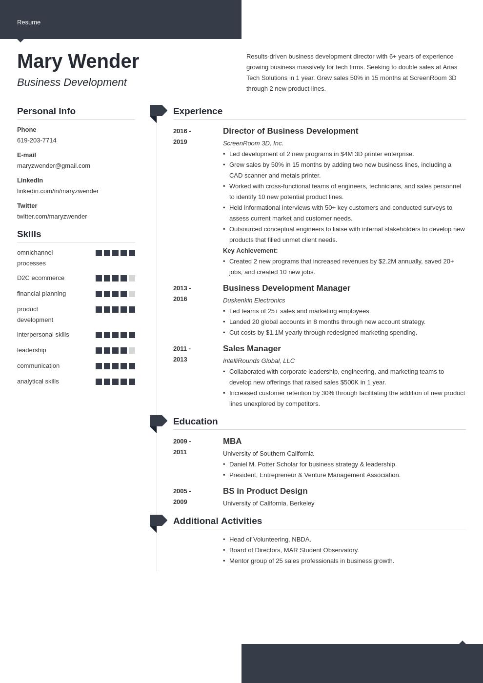 business development template modern uk
